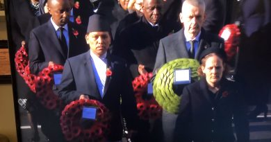 Nepali envoy to the UK places wreath during the 'Remembrance Day' ceremony