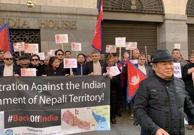 NRNs organise a protest in front of Indian High Commission in London