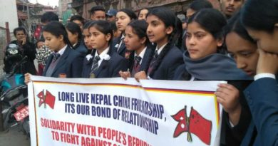 Nepalese expressed solidarity with China in fight against the COVID-19